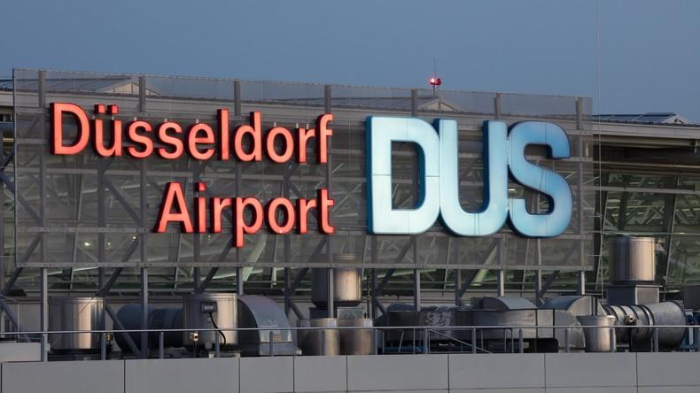 Angriff mit Cuttermesser am Flughafen Düsseldorf - Mitarbeiter lebensgefährlich verletzt