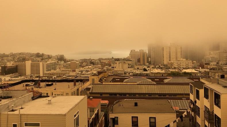 Ascheregen und gespenstisches Orange: Waldbrände geben San Francisco post-apokalyptisches Flair