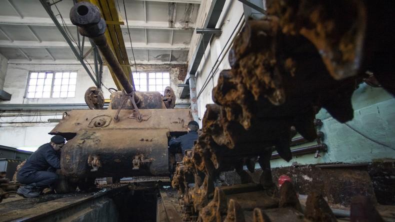 Altes Soldatenherz schlägt wieder: US-Panzer nach 70 Jahren am Meeresgrund restauriert