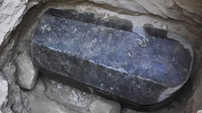 Schwarze Büchse der Pandora: Nie geöffneter Sarkophag bei Alexandria entdeckt