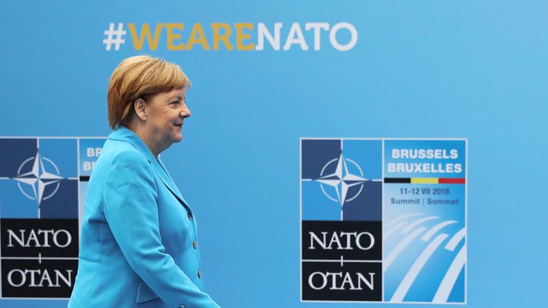 Video: Merkel gibt Erklärung zum NATO-Gipfel ab