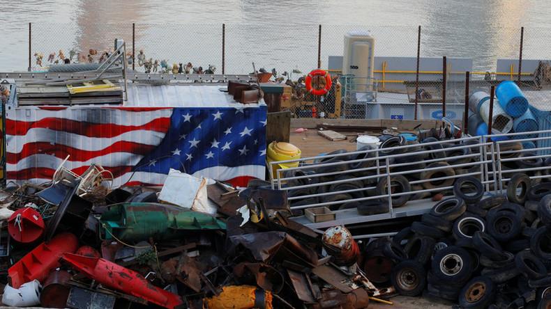 """Müllkriege: USA ertrinken im eigenen Abfall und beschuldigen China wegen Ablehnung von """"Recycling"""""""