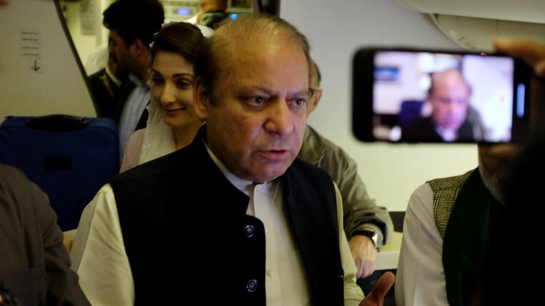 Pakistans Ex-Premier Sharif und Tochter Maryam am Flughafen verhaftet