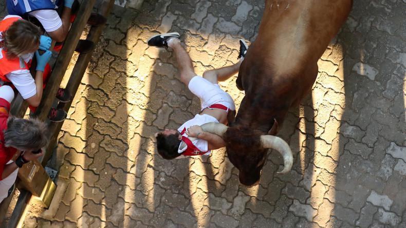 Traditionelle Stierrennen in Pamplona enden mit 31 Verletzten