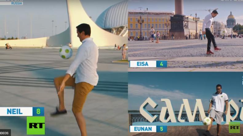 Fußball-Jonglier-Challenge: RT-Korrespondenten zeigen ihr Können am Ball (Video)