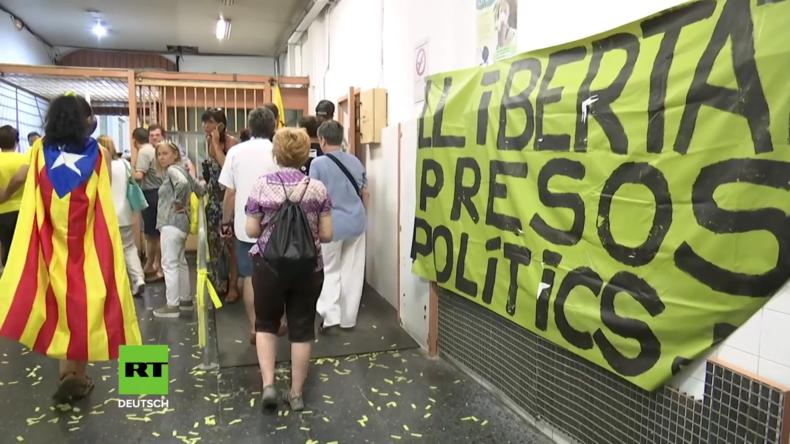 Spanien: Zehntausende fordern die Freilassung katalanischer Politiker