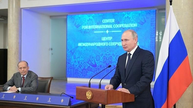 Putin: Russland blockierte 25 Millionen Cyber-Angriffe auf IT-Infrastruktur während Fußball-WM