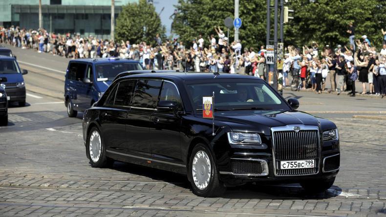 """Erste Auslandsreise für Putins Limousine: Staatskarosse """"Aurus"""" debütiert in Finnland"""