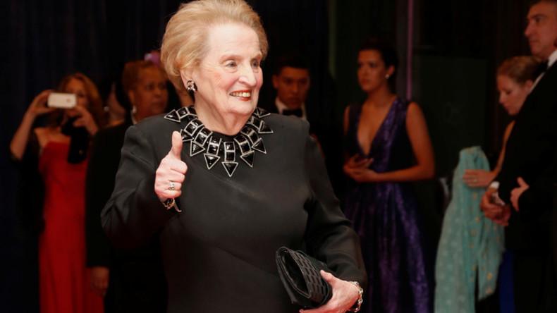 """Madeleine Albright: """"Der Stuhl des Führers der freien Welt ist leer"""""""