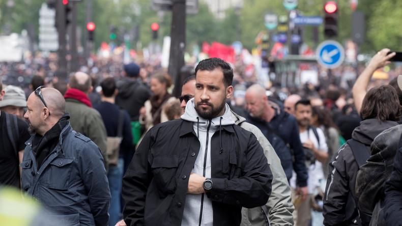 Umstrittener Macron-Sicherheitsmitarbeiter in Polizeigewahrsam