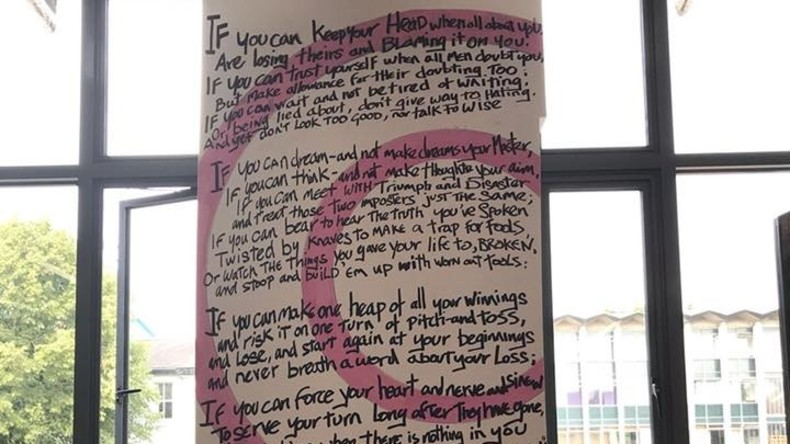 Rassismusvorwurf: Empörte Studenten entfernen Wandbild mit Gedicht von Rudyard Kipling