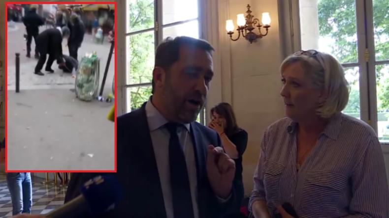 Wortgefecht zwischen Le Pen und Macron-Lager nach Video von prügelndem Macron-Leibwächter