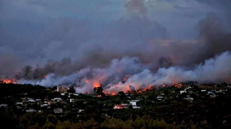 Mindestens 50 Tote bei Waldbränden in Griechenland
