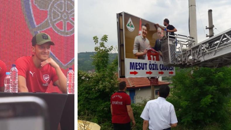 Straßenbild an Mesut-Özil-Straße in Türkei ausgetauscht - und Özils erster Auftritt nach Skandal