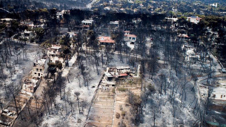 Zahl der Toten bei Waldbränden in Griechenland auf 86 gestiegen – Behörden vermuten Brandstiftung