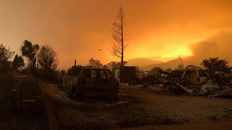 Zwei Tote und viele zerstörte Häuser bei Waldbränden in Kalifornien
