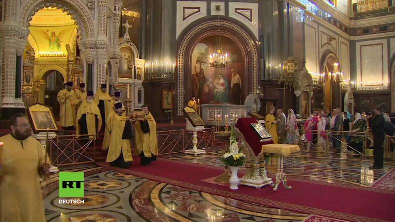 Russland: Nachtwache zur Feier der orthodoxen Taufe der Kiewer Rus