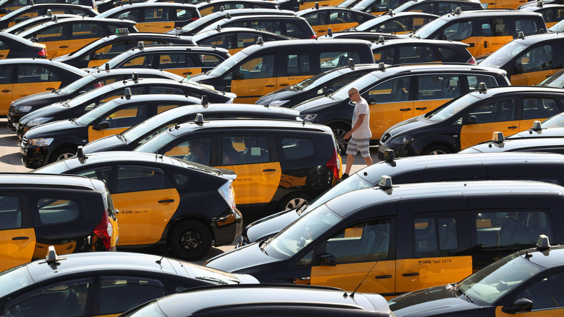 """Wut über """"Uber"""": Taxifahrer in Barcelona und Madrid treten in unbefristeten Streik"""