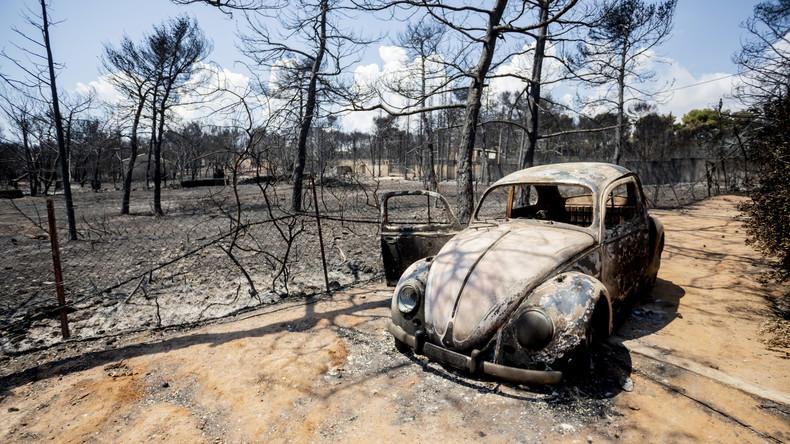 Tödlichste Waldbrände in Griechenland seit über einem Jahrhundert: Zahl der Toten steigt auf 91