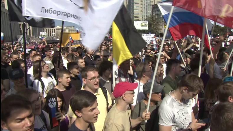 Moskau: Protestkundgebung gegen Anhebung des Rentenalters