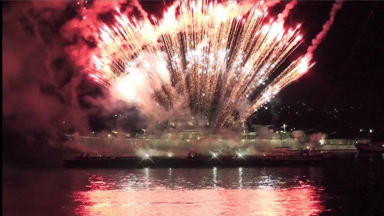 Sewastopols Schwarzmeerflotte: Großes Feuerwerk am Tag der Marine