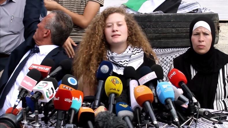 Palästinenserin nach Freilassung:Tamimi will weiter kämpfen