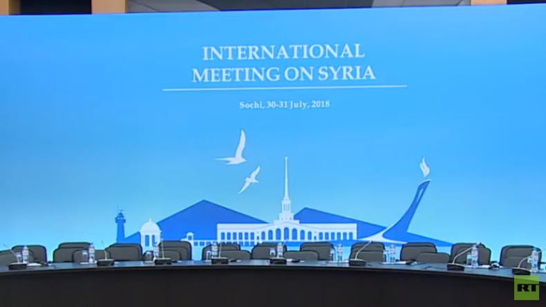 LIVE: Friedensgespräche zu Syrien in Sotschi – Teilnehmer geben abschließende Pressekonferenz