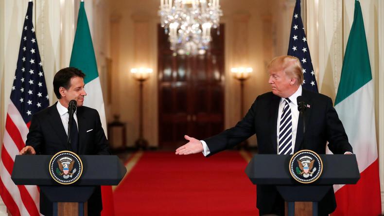 Für Trump wirft Italiens Premier Wahlversprechen über Bord