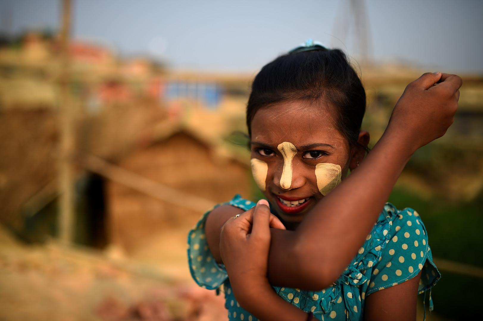 Rumana, 10 Jahre alt, Kutupalong Flüchtlingscamp, Cox Bazar, Bangladesch, 2. April 2018.