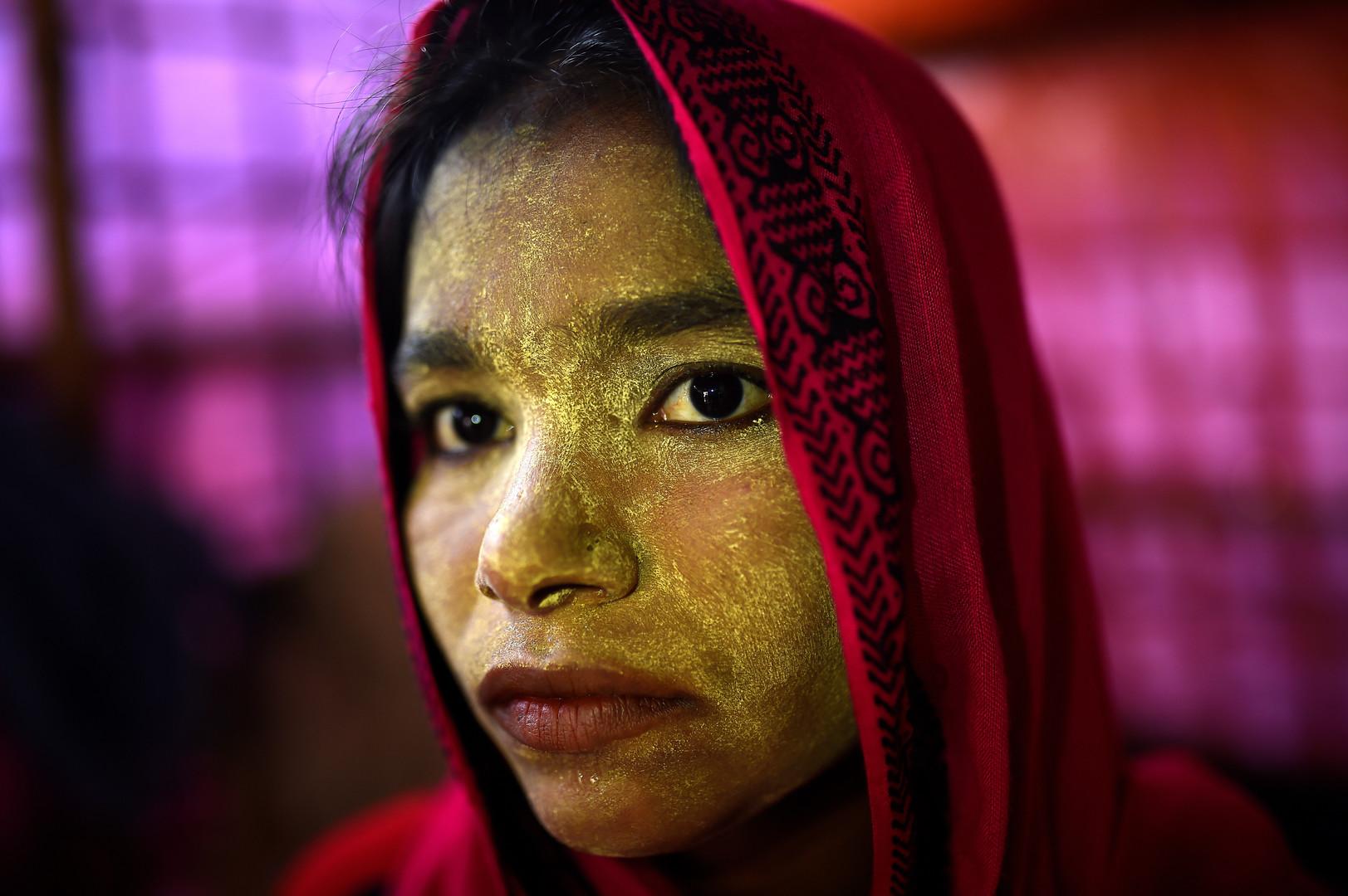 Laila Begum, 23 Jahre alt, Balukhali Camp in Cox Bazar, Bangladesch, 31. März 2018.