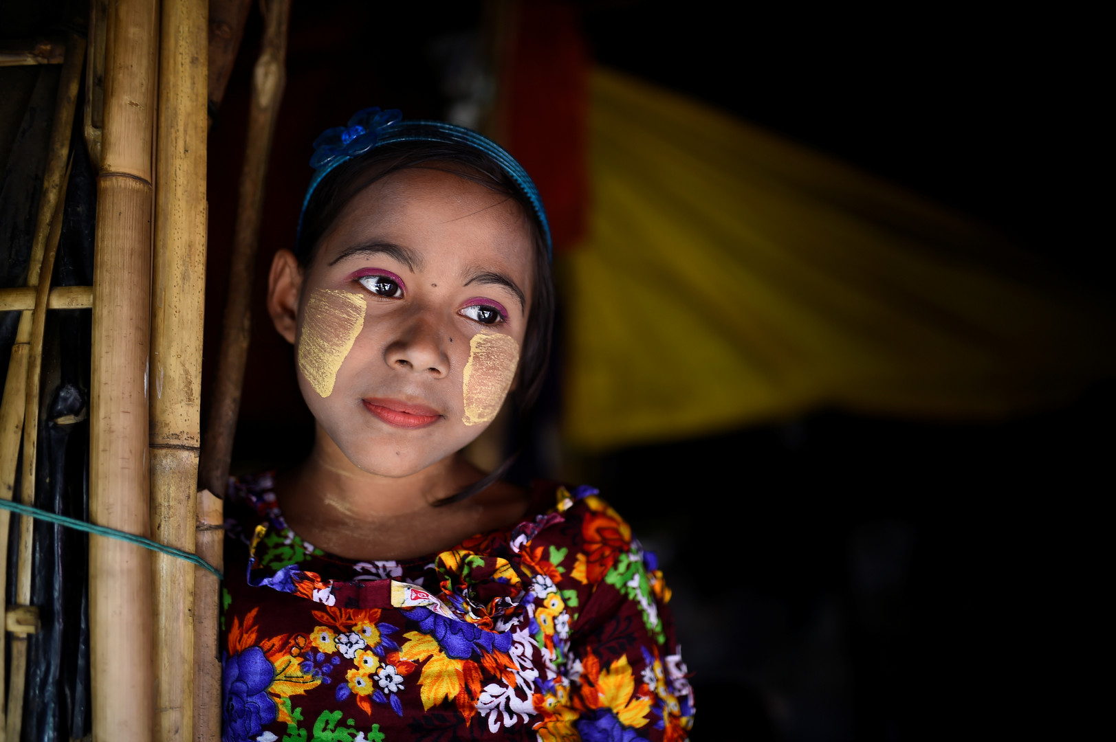 Romzida, 8 Jahre alt, Shamlapur Camp in Cox Bazar, Bangladesch, 30. März 2018.