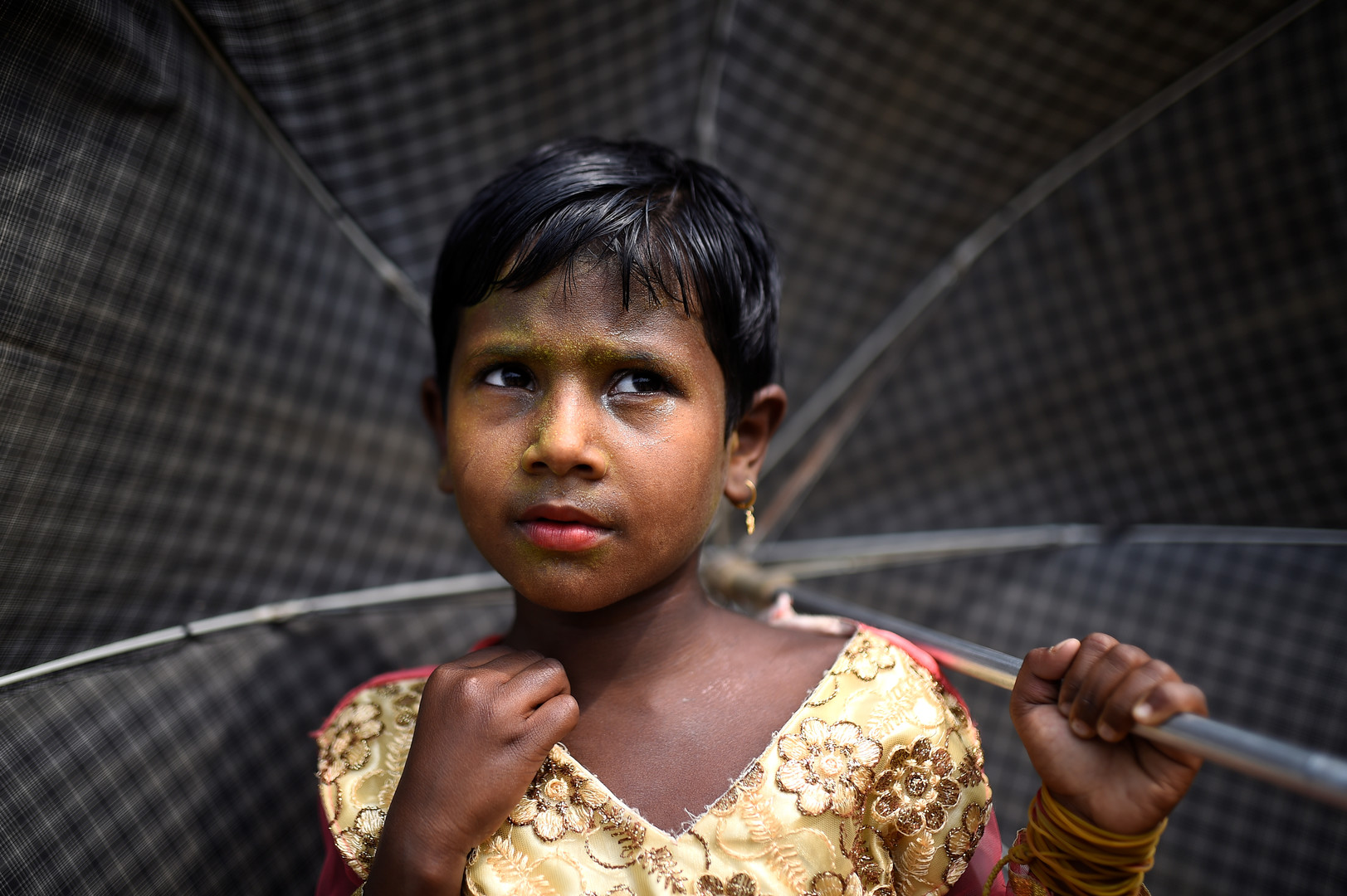 Zinu Ara, 4 Jahre alt, im Balukhali Camp, Cox Bazar, Bangladesch, 31 März 2018.