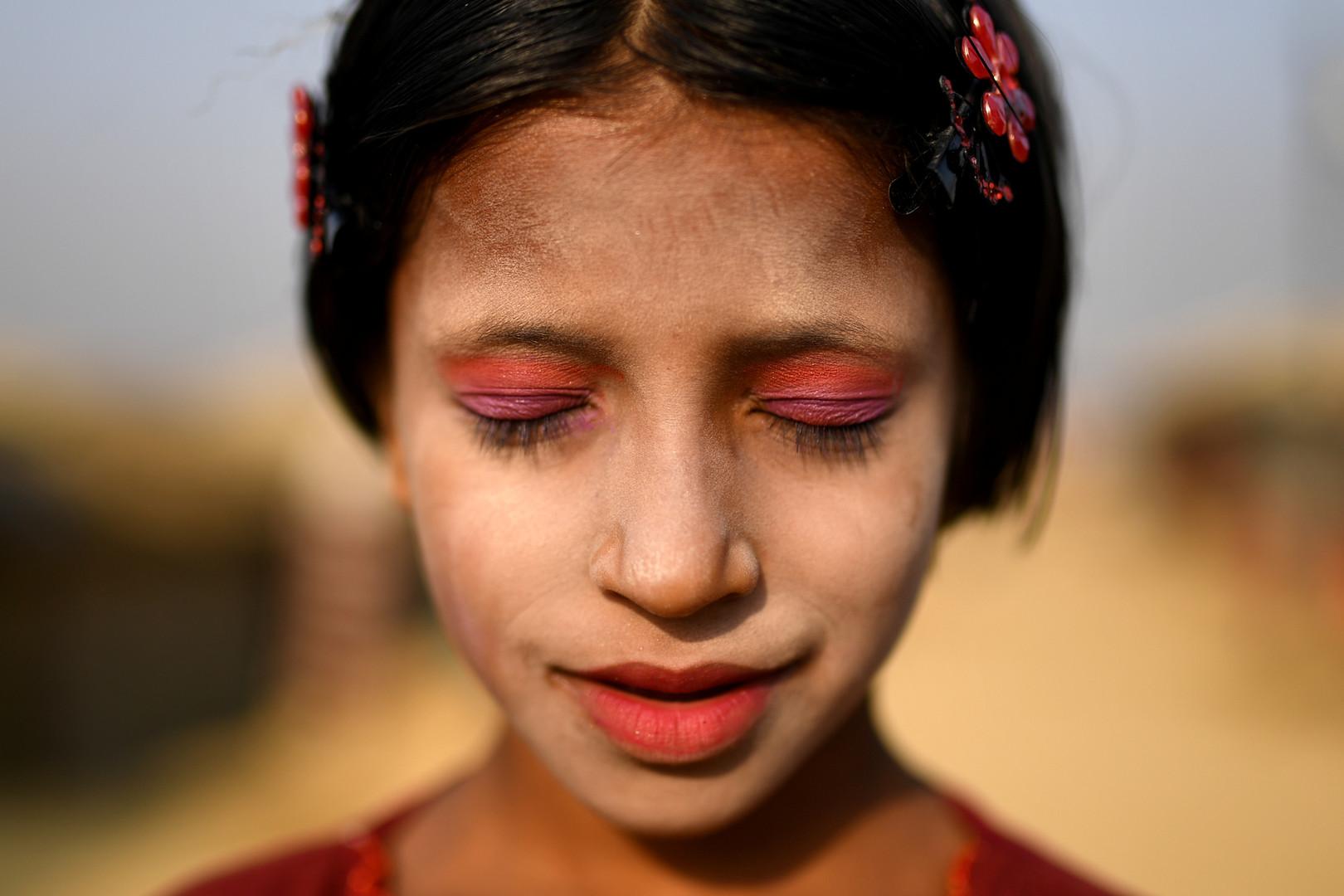 Amina, Kutapalong Flüchtlingscamp in Cox Bazar, Bangladesch, 30. März 2018.