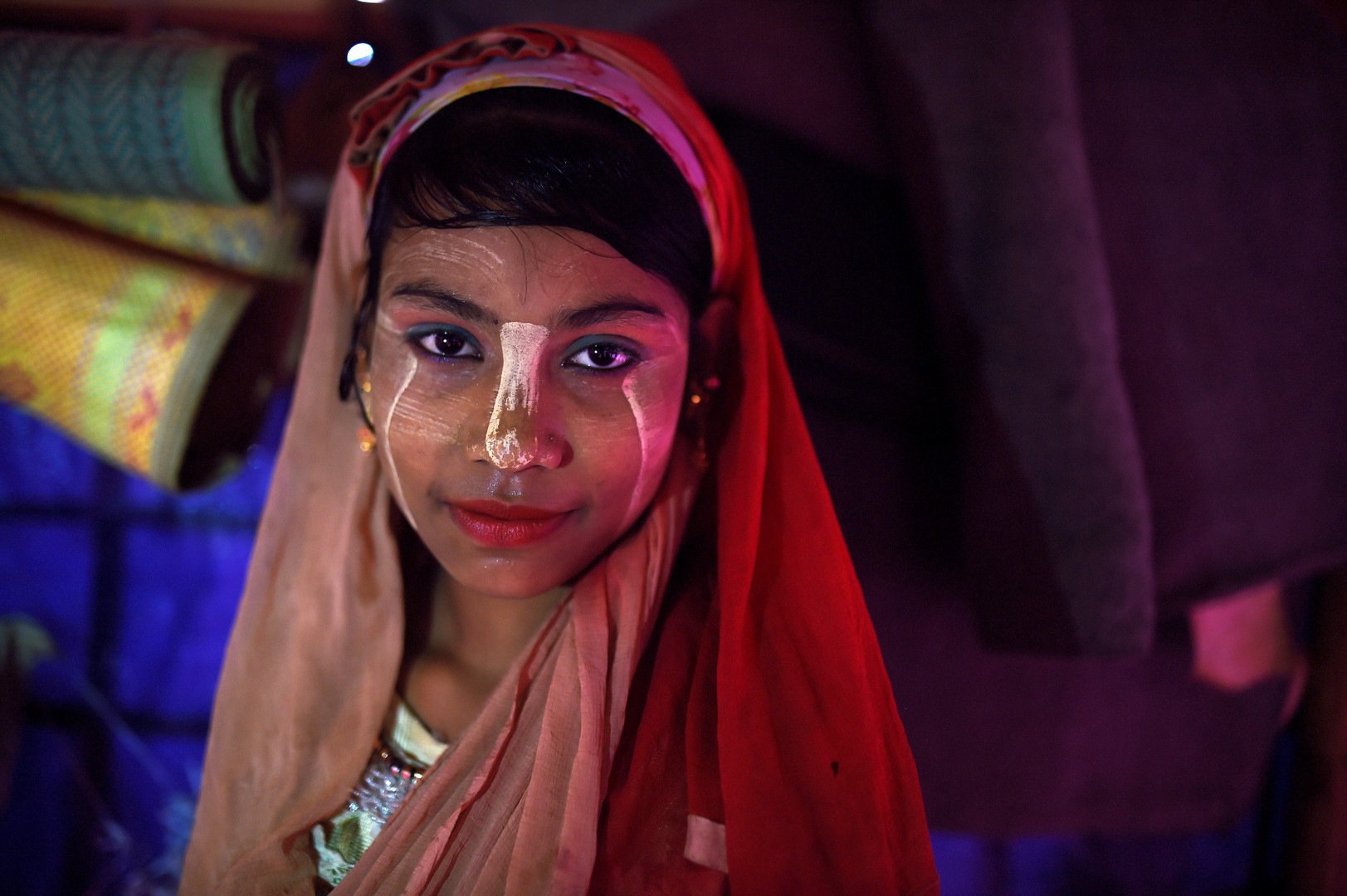Senura Begum, 14 Jahre alt, Jamtoli Camp in Cox Bazar, Bangladesch, 1. April 2018.
