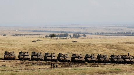 Israels Armee verstärkt Panzer- und Artillerie-Gruppierung an Syriens Grenze (Archivbild)