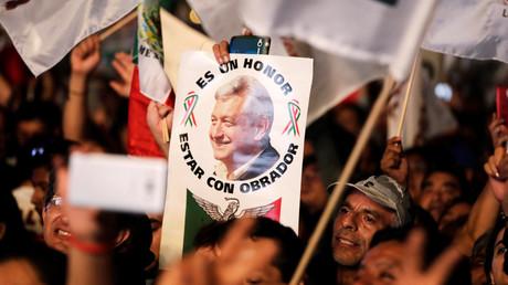 Nach seinem Wahlsieg feierten die Unterstützter von López Obrador in Mexiko-Stadt.