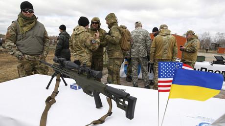 April 2015: Die ukrainische Nationalgarde erhält das US-Scharfschützengewehr Barrett M82.