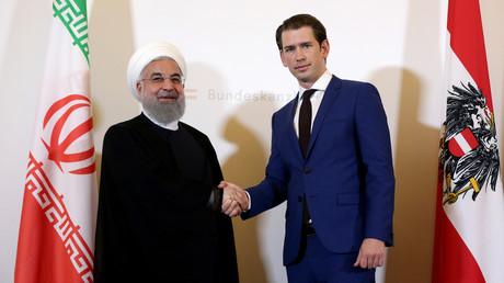 Zu Besuch in Wien: Irans Präsident Hassan Rouhani bei Bundeskanzler Sebastian Kurz