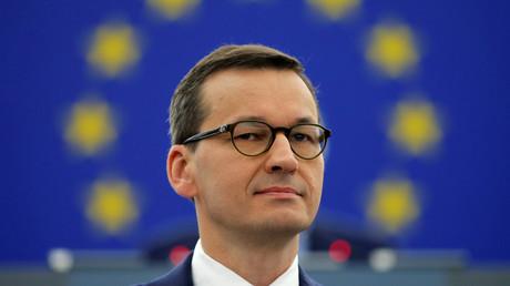 Polnischer Ministerpräsident Mateusz Morawiecki am 4. Juli im EU-Parlament in Straßburg