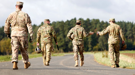 Gehen sie bald nach Haus? -  Nach dem Willen der Mehrheit der Bürger sollten die hierzulande stationierten US-Soldaten Deutschland den Rücken zukehren.  (Foto zeigt US-Soldaten bei Hohenfels, Oktober 2017)