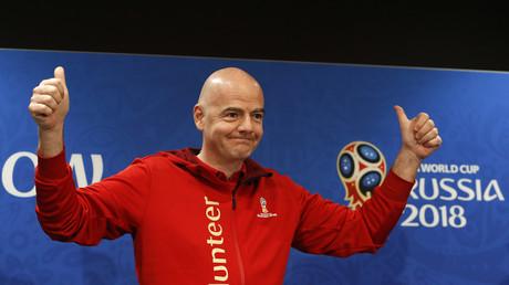 FIFA Präsident Gianni Infantino ist vom Ablauf der Fußball WM 2018 in Russland restlos begeistert...