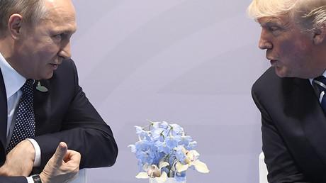 Am 16. Juli kommen US-Präsident Donald Trump und der russische Präsident Wladimir Putin zumrussisch-amerikanischen Gipfel in Helsinki zusammen. Hier beim G-20 Gipfel.