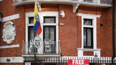 Die Botschaft Ecuadors in London, in der Julian Assange seit 2012 eingeschlossen ist.
