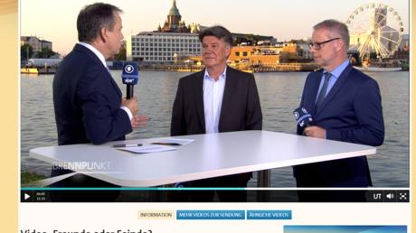 Kennen sich gut aus, echt jetzt: Die Herren Cichowitz, Lielischkies und Niemann in Helsinki (von links nach rechts)
