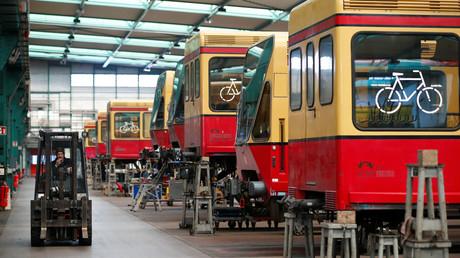 S-Bahn-Waggons in der Werkstatt Schöneweide