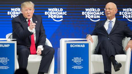 US-Präsident Donald Trump und der Gründer des Weltwirtschaftsforums Klaus Schwab in Davos.