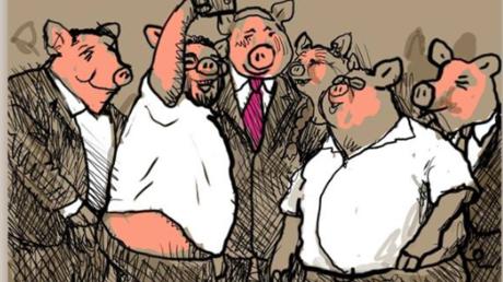 Ein Ausschnitt aus der Karikatur, die in Israel die Gemüter erhitzt.
