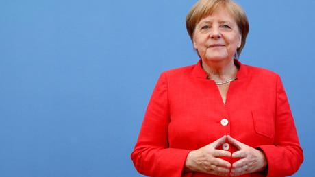 Angela Merkel bei der Sommerpressekonferenz am 20 Juli 2018.