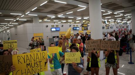Streikende Ryanair-Beschäftigte am Mittwoch in Palma de Mallorca