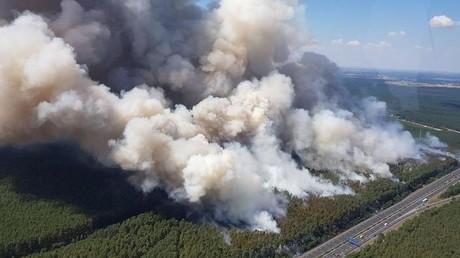 Der Waldbrand in der Region Berlin-Brandenburg weitet sich immer weiter aus